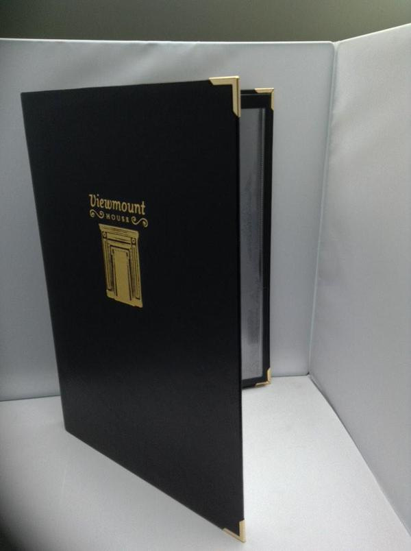 windsor leatherette menu cover mainly menus ireland