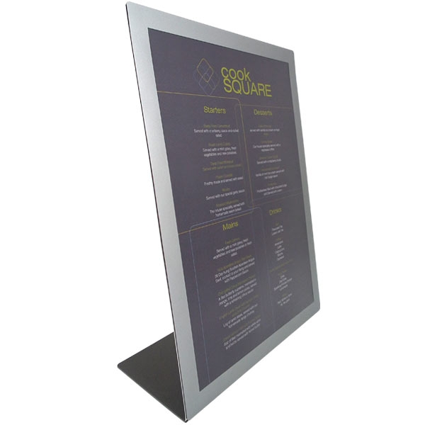 Meteor Table Top Menu Display by mainly menus ireland