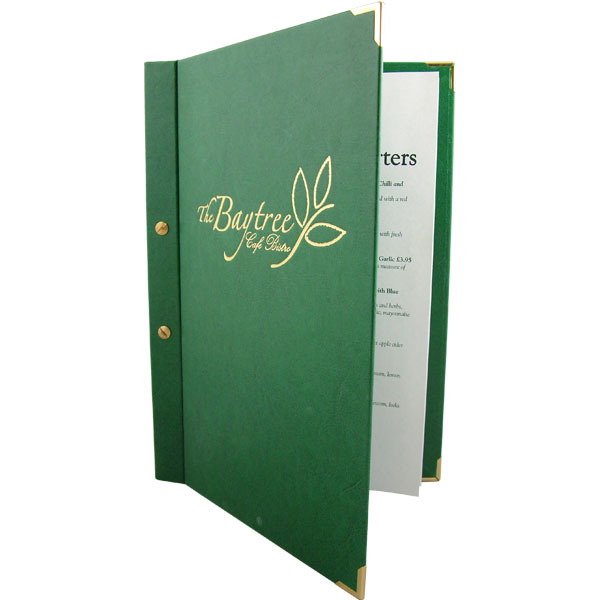 Windsor Screw Fix Menu Cover by Mainly Menus Ireland