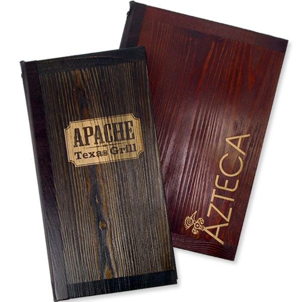 Buffalo Wood Menu Cover by Mainly Menus Ireland