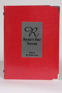 A5 Menu Cover with Silver Plate
