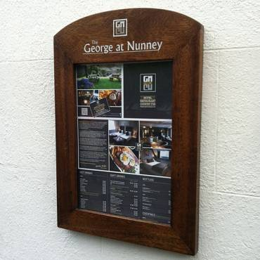 Wood Wall Mounted Showcases