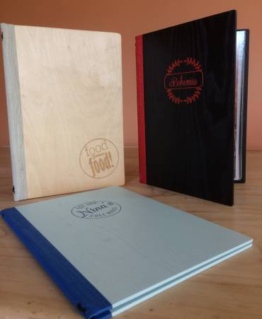 Authentic Wooden Menu Covers